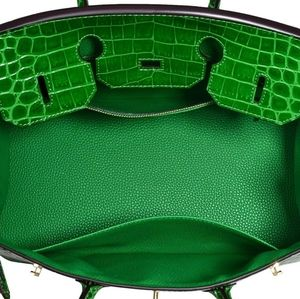 My Bag Lady Online Bags - Leather Croc Embossed Satchel CHOOSE COLOR